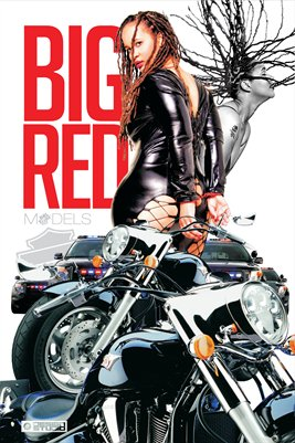 BIG RED MOTORCYCLE POSTER