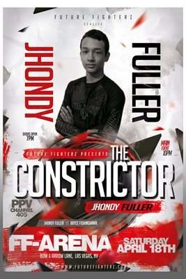 Jhondy Fuller Arena Red Poster