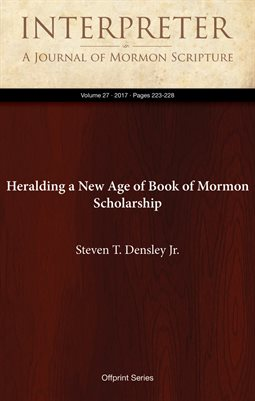 Heralding a New Age of Book of Mormon Scholarship