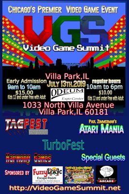2019 Video Game Summit Poster
