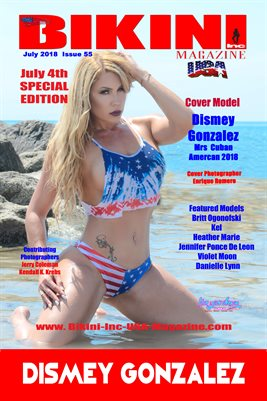 BIKINI INC USA MAGAZINE COVER POSTER - Cover Model Dismey Gonzalez - July 2018
