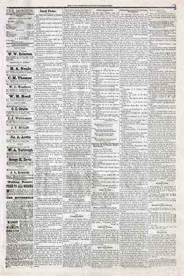 (PAGES 3-4) JUNE 19th, 1880 MAYFIELD MONITOR NEWSPAPER, MAYFIELD, GRAVES COUNTY, KENTUCKY
