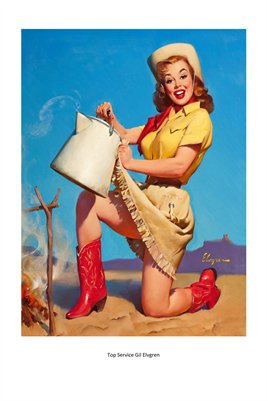CowGirl Pin-up, Top Service