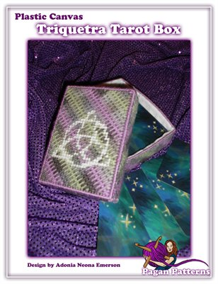 Plastic Canvas Triquetra Tarot Box