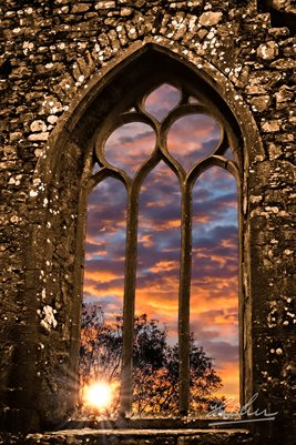Summer Sunrise over Clare Abbey (POSTER)