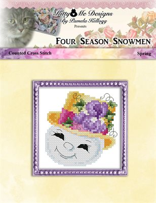 Four Season Snowmen Spring Cross Stitch Pattern