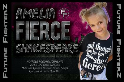 Amelia FIERCE Shakespeare Poster