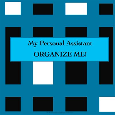 "My Personal Assistant Planner and Calendar - ORGANIZE ME! (The ""full monty"" version)"