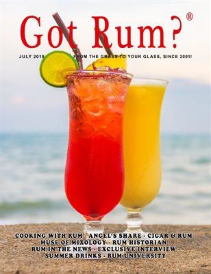 """""""Got Rum?"""" July 2018"""