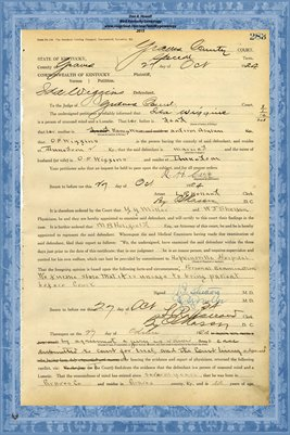 1924 State of Kentucky vs. Ida Wiggins,  Graves County, Kentucky2