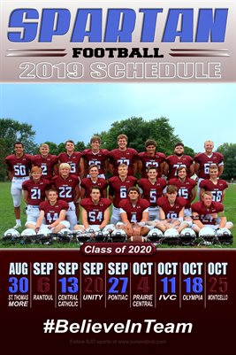 2020 SJO Football Schedule