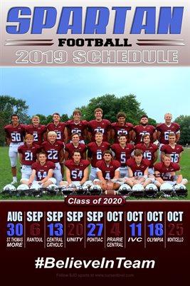 2020 SJO Football Schedule
