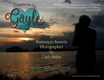 Creations by Gayle Mississippi Sunset 2018 Issue A