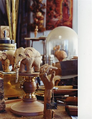 David Beck's Desk - Elephants and Fish