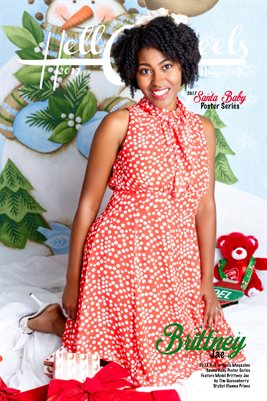 Hell on Heels Magazine Santa Baby Poster Series Brittney Jae Images by Dianna Prince