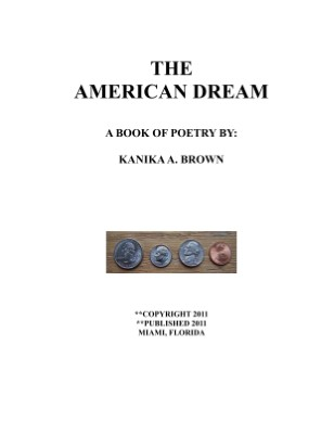 THE AMERICAN DREAM POETRY BOOK