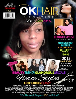 "OKHAIR Magazine Fall 2015 featuring Celebrity Stylist Braider ""C.Prince"""