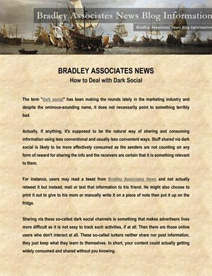 Bradley Associates News: How to Deal with Dark Social