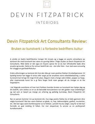 Devin Fitzpatrick Art Consultants Review: Bruken av kunstverk i a forbedre bedriftens kultur