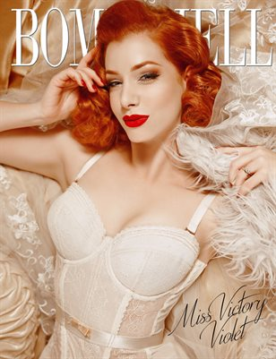 BOMBSHELL Magazine February 2018 - Miss Victory Violet Cover