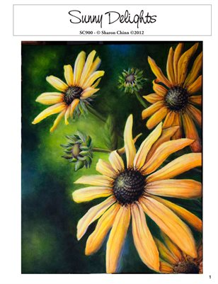 Sunny Delight Printed Painting Pattern Tutorial by Sharon Chinn