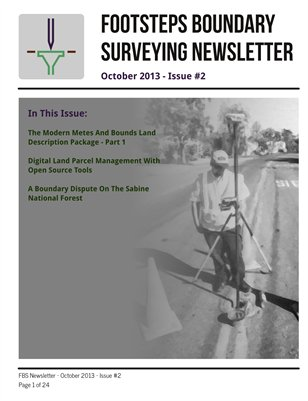Footsteps Boundary Surveying Newsletter October 2013