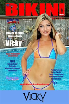 BIKINI INC USA MAGAZINE COVER POSTER - Cover Model Vicky - October 2018