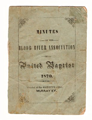 1870 Minutes of the Blood River Association of United Baptist