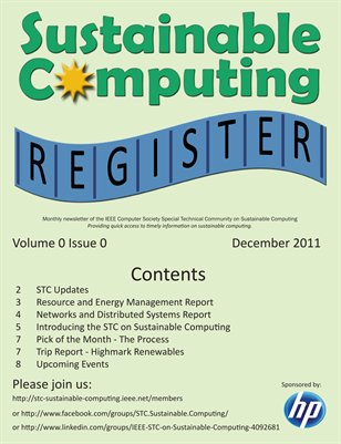 Sustainable Computing Register - December 2011