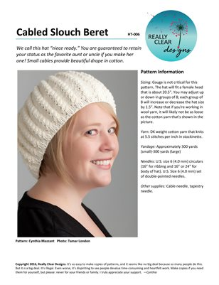 Cabled Slouch Beret