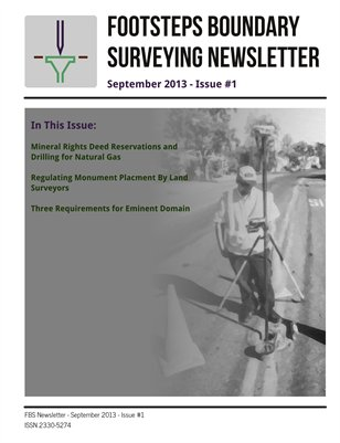 Footsteps Boundary Surveying Newsletter September 2013