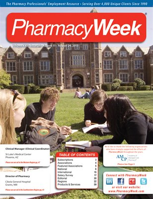 Pharmacy Week, Volume XXII - Issue 29 - August 11 - August 24, 2013