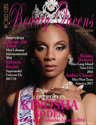 World Class Beauty Queens Magazine with Kinosha Soden