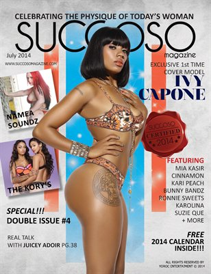 Succoso Magazine Double Issue #4 ft Cover Model Ivy Capone