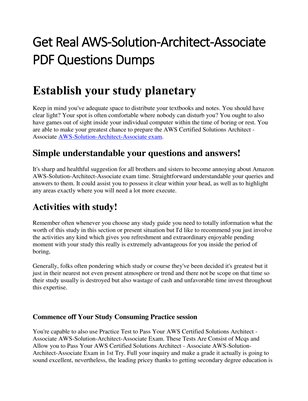 New PublicGet Real AWS-Solution-Architect-Associate PDF Questions Dumpsation