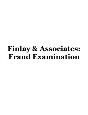 Finlay & Associates: Fraud Examination