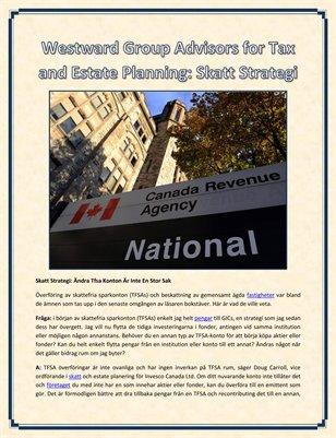 Westward Group Advisors for Tax and Estate Planning: Skatt Strategi
