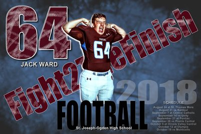 Jack Ward Football Schedule Poster