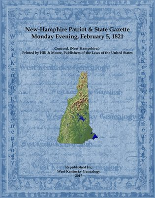 1821 New Hampshire Patriot and State Gazette