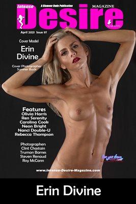 INTENSE DESIRE MAGAZINE COVER POSTER - Cover Model Erin Divine - April 2021