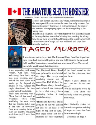 THE AMATEUR SLEUTH REGISTER THE STAGED MURDER