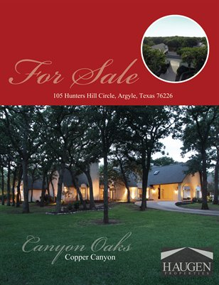 Haugen Properties -  105 Hunters Hill Circle, Argyle, Texas 76226