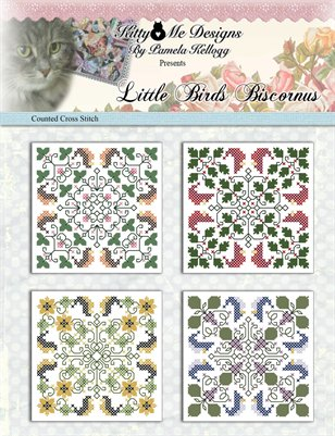Little Birds Biscornus Counted Cross Stitch Patterns