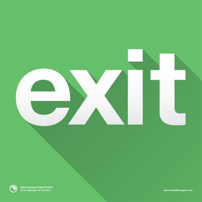 "Exit (Small 8x8"" Sign)"