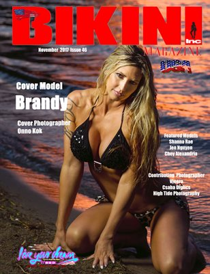 BIKINI INC USA MAGAZINE - Cover Model Brandy - November 2017