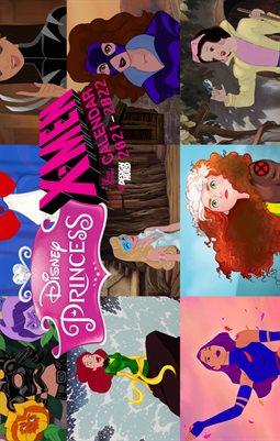 Disney Princess X-Men Calendar Sep 2021-Aug 2022