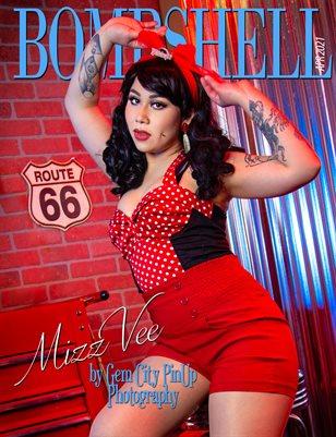 BOMBSHELL Magazine April 2021 BOOK 2 - Mizz Vee Cover