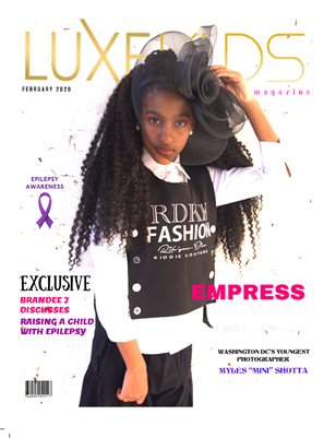 FEBRUARY LUXE KID COVER MODEL: EMPRESS GIDDINGS