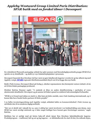 Appleby Westward Group Limited Paris Distribution