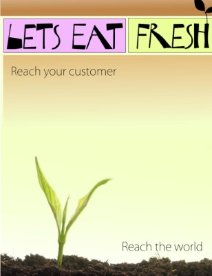 Promotional Brochure for Let's Eat Fresh